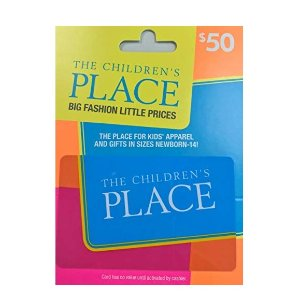 $39The Children's Place $50 Gift Card
