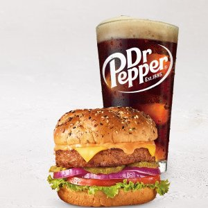 w/ Purchase of a BeverageToday Only: Denny's Free Beyond Burger Limited Time Only