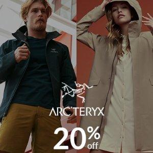 限时8折 上衣$31起 夹克$175最后一天:Arc'teryx 始祖鸟精选服饰特卖 户外爱马仕