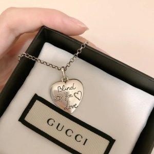 Gucci925银爱心项链