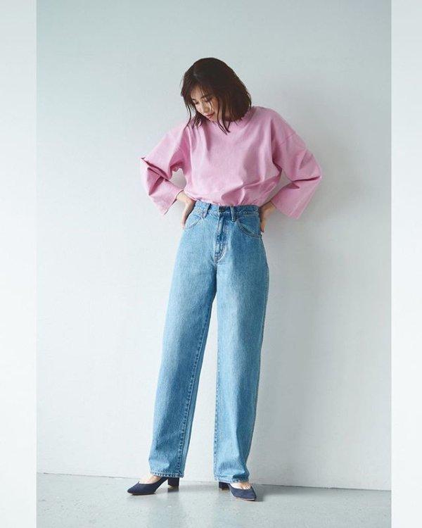 新款系带牛仔裤