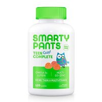 SmartyPants Gummy Vitamins 非转基因每日复合维生素青少年款,添加Omega 3,叶黄素等,120粒