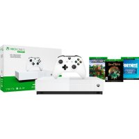 Microsoft Xbox One S 1TB 游戏主机 + 3个数字版游戏