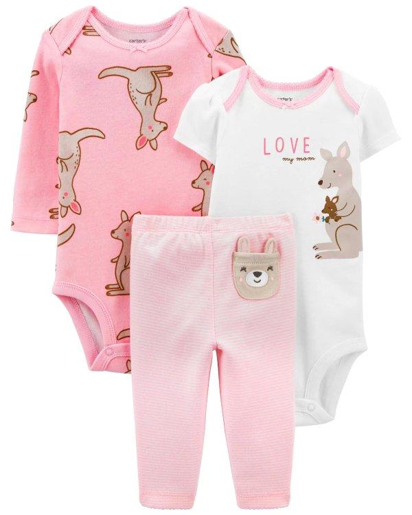 婴儿袋鼠3件套