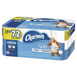 $15.09 (原价$22.99)Charmin 24卷超软卫生纸 (相当于普通72卷)