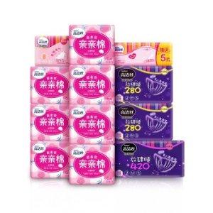 秒杀¥59.9到手高洁丝 Kotex 亲亲棉日夜组合12包115片