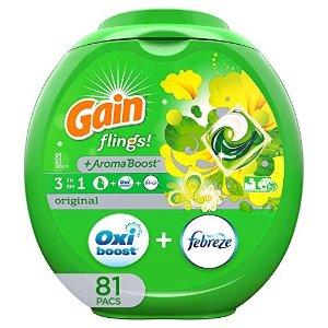 GainFlings Original Laundry Detergent Pacs, 81 Count