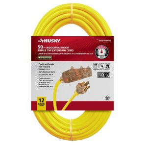$19.88Husky 50 ft. 12/3 Lighted Triple Tap Extension Cord