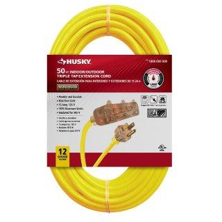 $19.88Husky 50英尺电线延长线/三插拖线板 室外可用