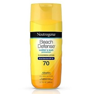 $3Neutrogena Beach Defense Water Resistant Sunscreen Body Lotion with Broad Spectrum SPF 70, Oil-Free and Fast-Absorbing, 6.7 oz