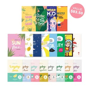 FaceTory Mask Collection - Sheet Masks and Hair Mask (20pc)