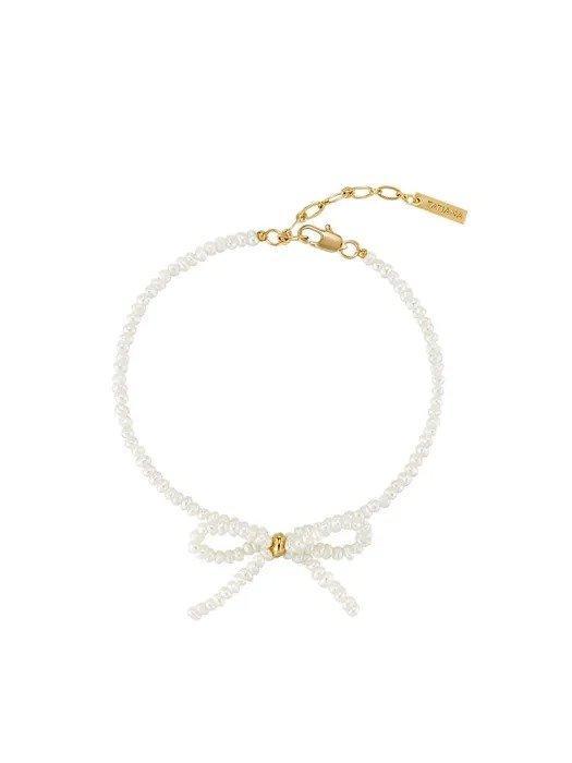 蝴蝶结珍珠手链