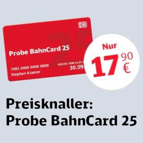 只要€17.9 坐次火车就值回票价啦它来啦!Bahncard 25 德铁3月打折卡 全德火车票都折上75折
