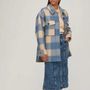 星标7折 £206收格纹衬衣Isabel Marant Etoile 港风格纹大衣!倪妮同款现在上身!