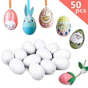50个白色蛋带彩带
