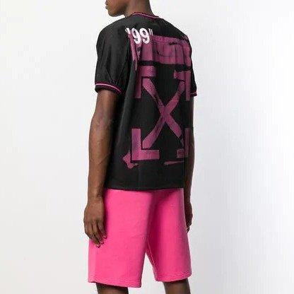 黑粉配色男士T恤
