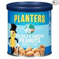Planters 海盐醋味花生粒 6 Ounce