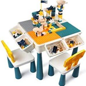 $54.98 可玩积木玩沙玩水GobiDex 多功能儿童游戏桌椅套装