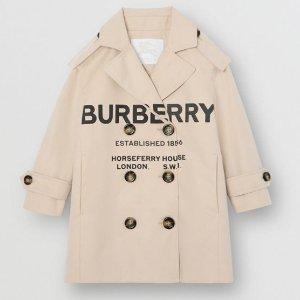 低至7折+满额额外7.5折折扣升级:Burberry童装年中大促 经典风衣价格直降