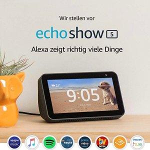 7.8折 €68.23(原价€87.72)Echo Show 5 宅家必备智能居家帮手 视频聊天 宝宝监控 接打电话 新闻播报