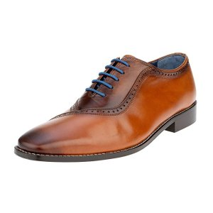 fa4f4f87b Liberty Men s Genuine Handmade Finest Leather with Burnished Toe - Lace up  Oxford Dress Shoes