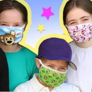 6个$15+包邮 白菜价Plushible 儿童口罩好价回归  三种组合可选