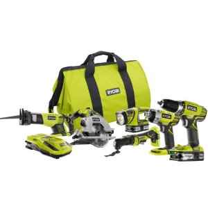 Ryobi 18-Volt ONE+ Lithium-Ion Ultimate Combo Kit (6-Tool)