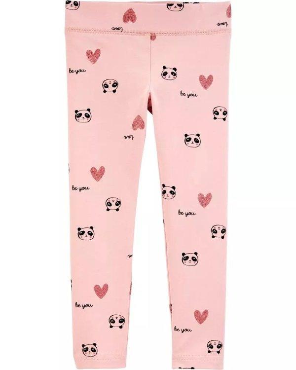 小童熊猫打底裤