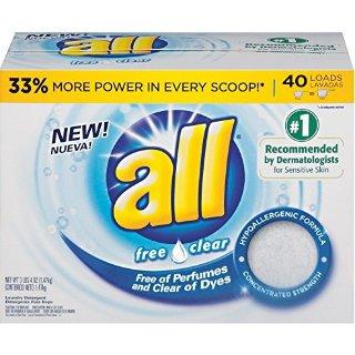 $3.34all Free Clear 敏感肌友好洗衣粉 1.47kg 40次量