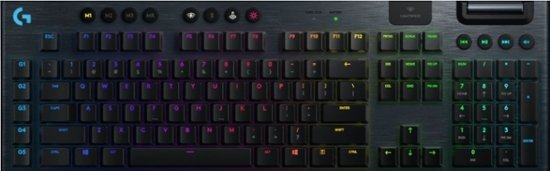 - G915 LIGHTSPEED Wireless RGB Mechanical Gaming Keyboard with GL Clicky Switch - Black