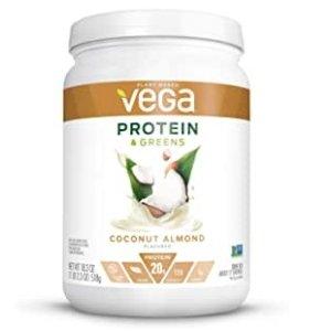 Vega 植物蛋白粉促销 椰子杏仁口味 18.3 Oz