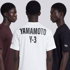 低至3.7折+额外7.5折独家:Y-3 高端运动潮牌服饰、配饰折上折 $96收封面同款T恤