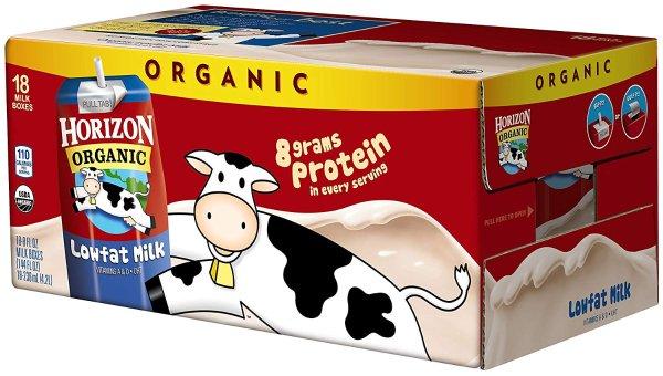 Horizon Organic 低脂有机奶 8oz 18盒