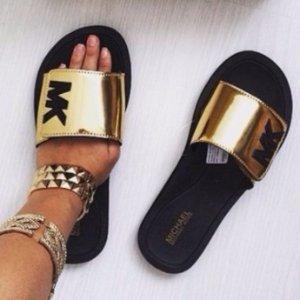 ada8476cee36 MICHAEL Michael Kors Women s Slide Sandals Sale - Dealmoon