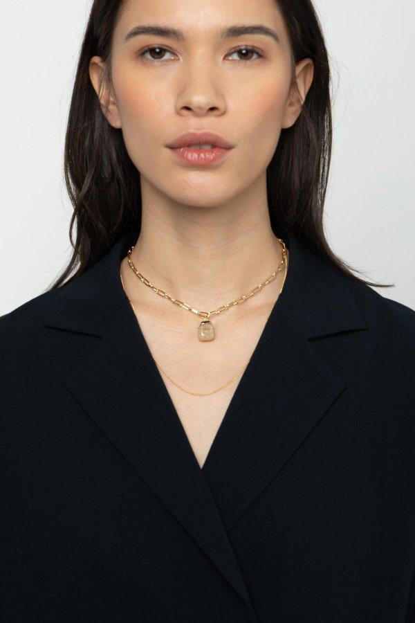 大理石纹项链