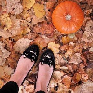 4折起  £158收猫咪穆勒鞋Charlotte Olympia 夏季折扣悄悄上线 超萌猫咪立刻收