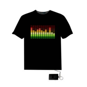 $11.99 LED Sound Activated E-Q Raver T-Shirt @ Amazon