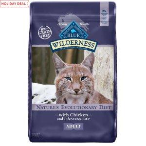 Blue Buffalo Wilderness鸡肉味高蛋白质无谷猫粮 12lb
