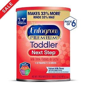 Enfagrow7.5折+额外9.5折PREMIUM 婴幼儿1-3岁非转基因配方奶粉 32oz/罐