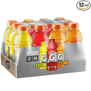 $7.19 Gatorade Original Thirst Quencher Variety Pack, 20 Ounce Bottles (Pack of 12)