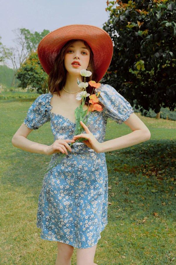 Maisy碎花裙- Blue Floral