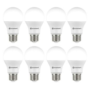 $9.94包邮EcoSmart 60瓦当量A19 LED节能灯泡 日光 8个