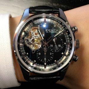 $4995ZENITH  Chronomaster El Primero Automatic Chronograph Black Dial Men's Watch No. 03.2040.4061/21.C496