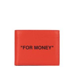 Off-WhiteQuote Bifold Wallet