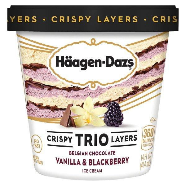 三重巧克力口味冰激凌