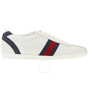 GucciLadies Bambi Low-Top White Leather Sneaker