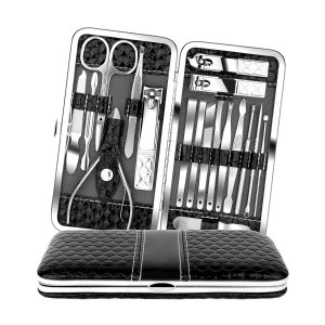 Teamkio 18pcs Stainless Steel Professional Manicure Pedicure Set