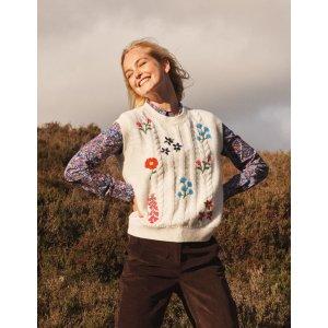 BodenReena Sweater Vest - Ivory | Boden US