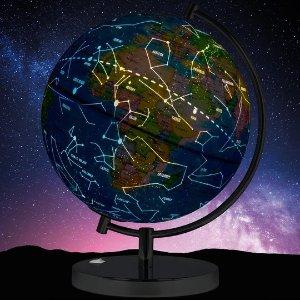 2合1地球仪+星象仪,可发光