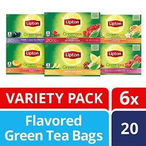 $12.27Lipton Flavored Green Tea Bags, Variety Pack 6 Pack 20 ct